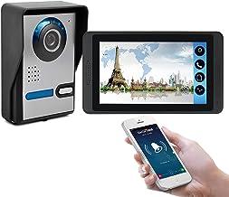 Wifi Video Deurbel, Video Deurtelefoon Surveillance Intercom Kit, Nachtzicht Beveiligingscamera + 7 Inch Display, Monitor ...
