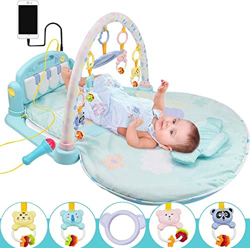 GONGFF Baby Pedal Klavier Fitness Rack Baby Musik Spiele Decke Spielzeug 0-1 Jahre Alt 3-12 Monate