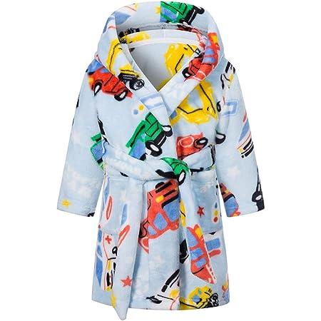 Pekkle Soft Hooded Bathrobe Sleepwear for Toddler Boys