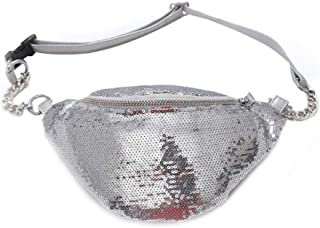 Women Sequin Fanny Pack Travel Waist Bag Chest Shoulder Bag Glitter Bum Belts Bags Waist Packs