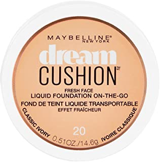 Maybelline New York Dream Cushion Fresh Face Liquid Foundation, Classic Ivory, 0.51 Ounce