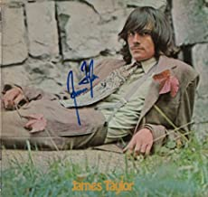 JAMES TAYLOR SIGNED AUTOGRAPH RECORD, ALBUM, VINYL - SELF-TITLED DEBUT - LEGENDARY FOLK COUNTRY ROCK SINGER SONGWRITER - ROCK AND ROLL HALL OF FAME - CARLY SIMON - SWEET BABY JAMES, MUD SLIDE SLIM AND THE BLUE HORIZON, ONE MAN DOG, WALKING MAN, THAT'S WHY I'M HERE, IN THE POCKET, FLAG, DAD LOVES HIS WORK, NEW MOON SHINE, HOURGLASS, OCTOBER ROAD, A CHRISTMAS ALBUM, COVERS, BEFORE THIS WORLD, AMERICAN STANDARD, NEVER DIE YOUNG, GORILLA