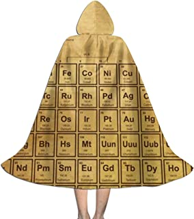 Kids Elements Chemistry Table Vintage Old Halloween Witch Hooded Cape Cloak