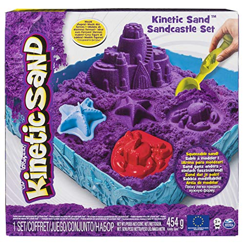 Kinetic Sand The One Only Sandcastle Set 1lb Sand Molds Tools Purple Sand