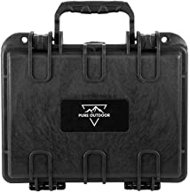 Monoprice Weatherproof/Shockproof Hard Case - Black IP67 Level dust and Water Protection up to 1 Meter Depth with Customizable Foam, 10