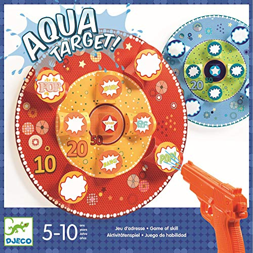 DJECO azione e riflessi giochi Gioco di abilità Aqua Target, Multicolore, 15
