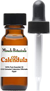 Miracle Botanicals CO2 Extracted Calendula Essential Oil - 100% Pure Calendula Officinalis - 15ml or 30ml Sizes - Therapeutic Grade - 15ml