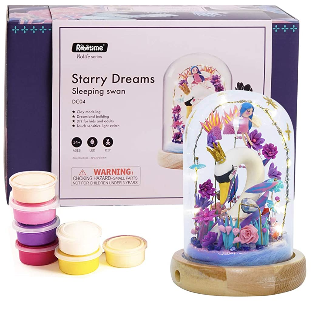 Rolife DIY Crafts Clay Set Adult Clay Modeling Dough with Tool Sets Gift for Girls Woman (Sleeping Swan)