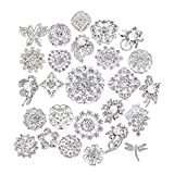 Lot 25pcs bridal and wedding brooch button bouquet kit set Brooches for women