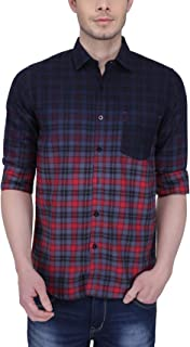 Southbay Grey Maroon Cotton Checks Casual Shirt for Men