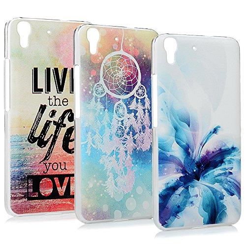 Lanveni 3X Verniciato pc plastica Dura Case per Huawei Y6/Honor 4a (5Pollici) Case Custodia Cellulare Decorativa Fusibile della Calotta di Protezione Bumper Case
