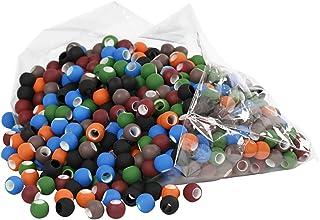 Link Beads - Assortment, size 8x10 mm, asstd colours, 300g