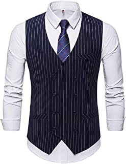 MU2M Men Business Dress Suit Formal Slim Fit Button Down Vest Waistcoat