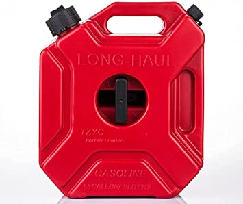 Gas Can 5L/1.3 Gallon Fuel Container Oil Petrol Storage Cans Spare Emergency Backup Petrol Tanks Mount for Motorcycle SUV ATV Most Cars: image