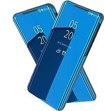 جراب XINKOE لهاتف Samsung Galaxy A30S، مرآة مطلية نحيفة، غطاء واقٍ مضاد للانزلاق وممتص للصدمات لهاتف Samsung Galaxy A30S (أسود) for Samsung Galaxy A30S ازرق