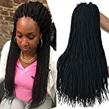 18 inch 8 Packs senegalese twist crochet hair 30strands/pack Synthetic Crochet Braiding Hair black sengalese twist crochet braids