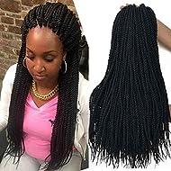 18 inch 8 Packs senegalese twist crochet hair 30strands/pack Synthetic Crochet Braiding Hair black sengalese twist crochet braids
