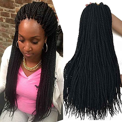 18 inch 8 Packs senegalese twist crochet hair 30strands/pack Synthetic...