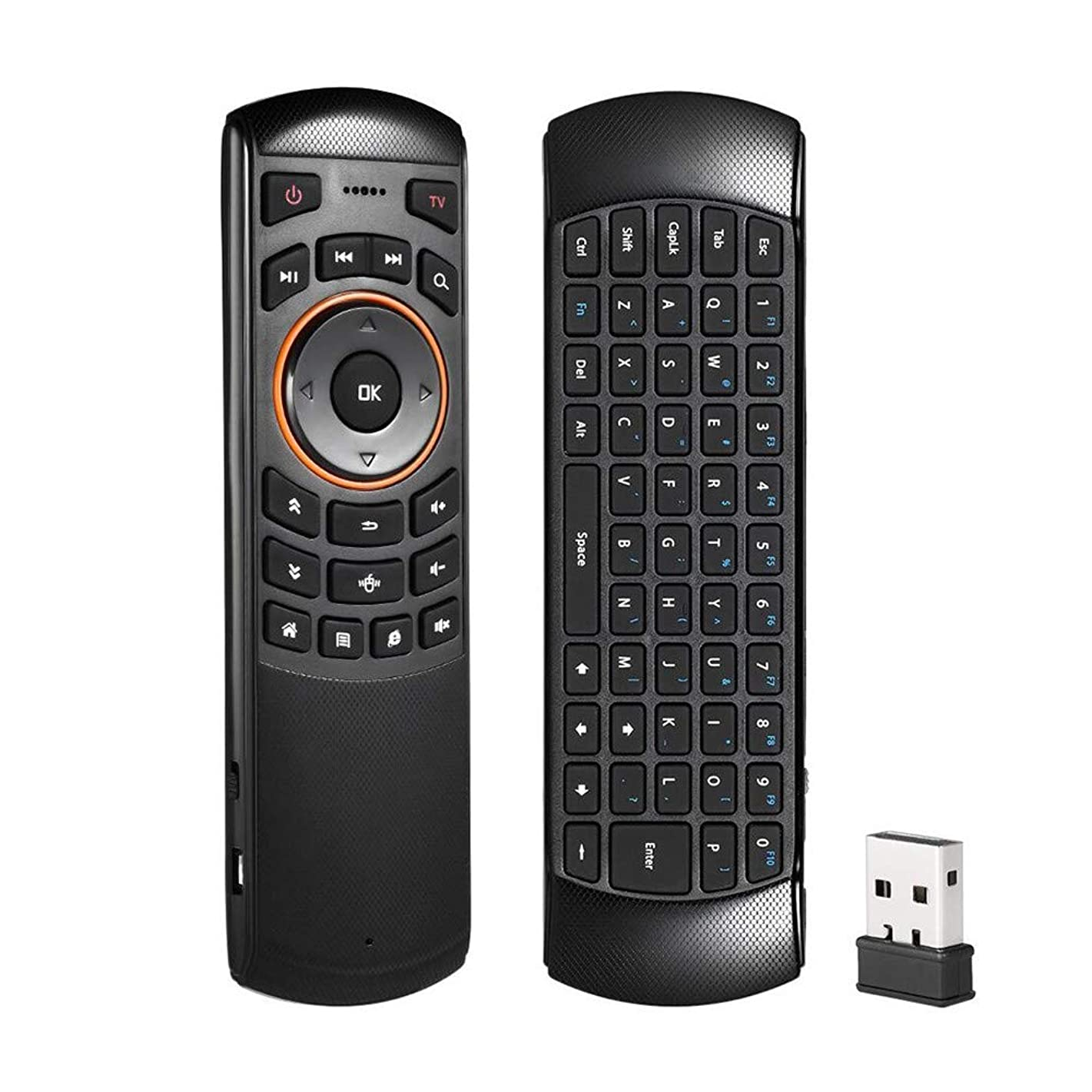 Aries 2.4GHz RF Wireless Keyboard Remote Control Replacement Receiver for Smart TV