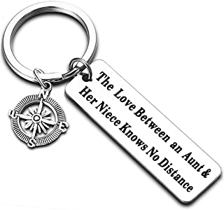 Aunt Gifts from Niece Nephew Long Distance Relationship Gifts Aunt Niece Keychain Aunt Nephew Keyring Gifts for Niece Neph...