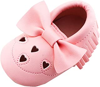 Riverdalin Kids Girls Leather Shoes Baby Girls Bowknot Princess Dress Sandals Single Flats Mary Jane Shoes