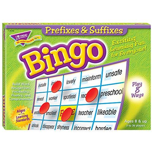 TREND ENTERPRISES, INC. - T-6140 TREND enterprises, Inc. Prefixes & Suffixes Bingo Game