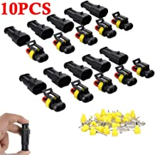 Kinstecks 240PCS 1 2 3 4 5 6 Pin Waterproof Car Auto Electrical Wire Connector Automotive Terminals Kit with Automotive Blade Fuses for Motorcycle Car Truck Scooter Boats Electric Instruments
