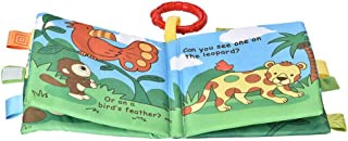 Cloth Book Toy, High Strength Cotton Polyester Reusable Rattles Book Toy Built-in Sounder Cloth Book Early Educational Dev...