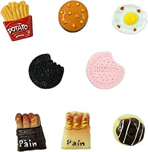 【XX-UV】 8pcs 3D Food Magnets. Refrigerator Magnets Dishwasher Magnet Cute Magnets Kitchen Decoration Cookware,Perfect for Refrigerators Other Magnetic Items Fridge Magnet