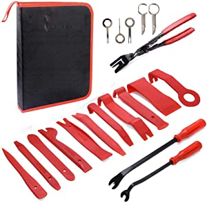Cefrank Car Trim Removal Tools Kit 19Pcs Auto Nylon Trim Removal Installer Repair Pry Tool Kits w Durable Storage Bag
