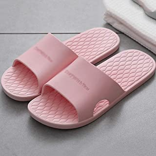 ZYING Men's Slippers Summer Shoes Men Beach Flip Flops Casual Slides Male Women Home Slipper Non-slip Soft Sole (Color : ...