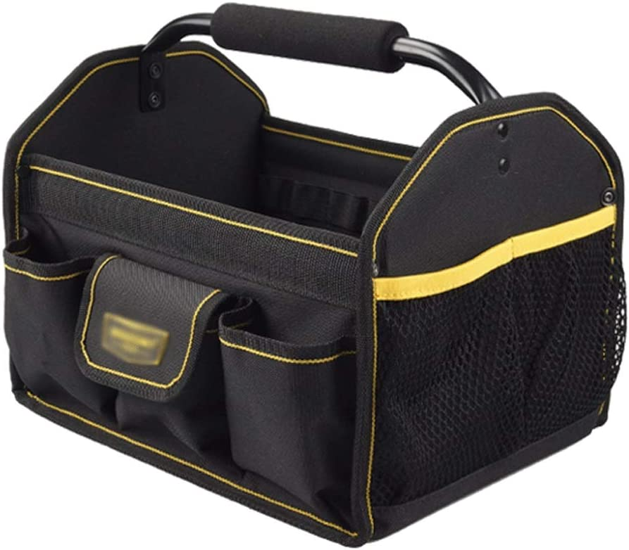 Tool Bag Collapsible Open Top Tool Tote Bag with Interior/Exteri