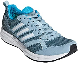 Women's Adizero Tempo 9 Running Shoes Ash Grey/Cloud White/Shock Cyan 9.5