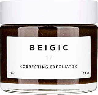 BEIGIC Correcting Exfoliator - A Deep Pore Cleansing Facial Scrub with Coffee Grounds that Removes Dead Skin Cells and Softens the Skin, Vegan & Cruelty Free – 2.3 oz
