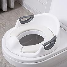 Aerobath Asiento Inodoro para Niños, Reductor de WC para Bebé, Tapa WC con reposabrazos, respaldo, tapizado, deflector, diseño antideslizante, Ayuda para aprender a ir al baño