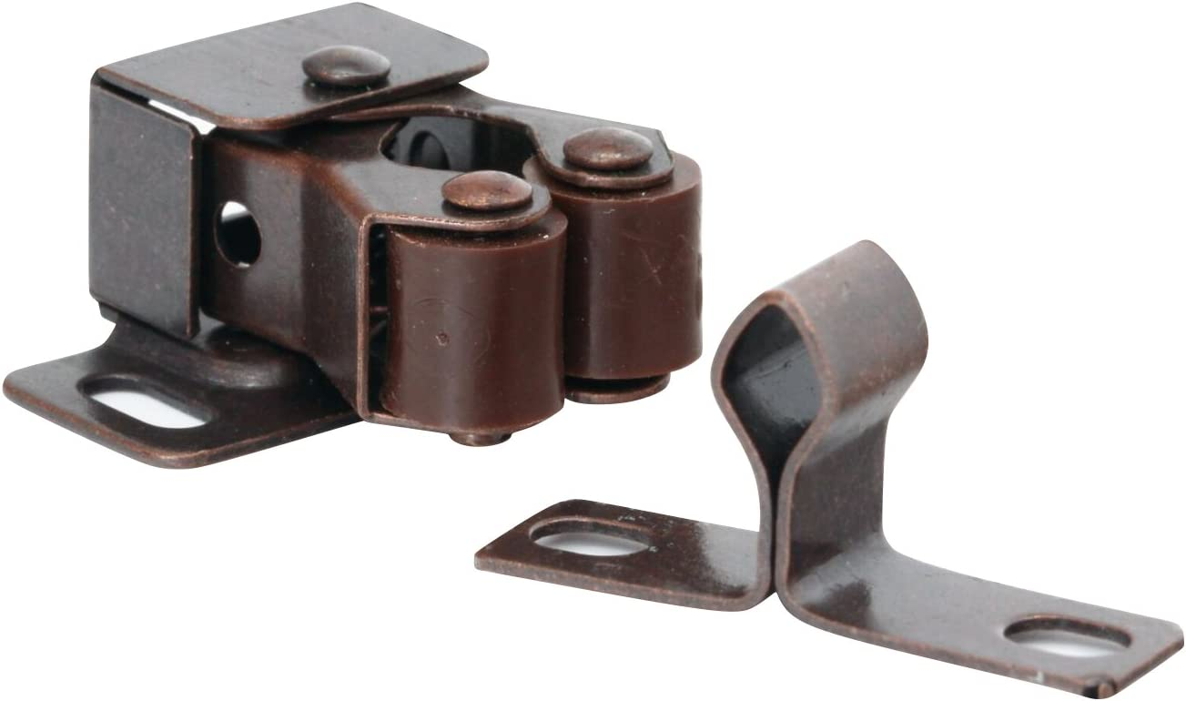 10 Pack Rok Hardware Roller Oil-Rubbed Catch Popular popular Bronze Brown Copper In a popularity