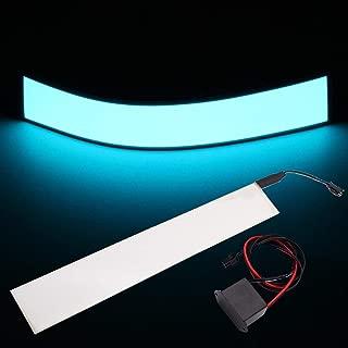 30x5cm 12V Flexible EL Light Panel Electroluminescent Back Light Strip Lamp with Inverter for Home Car Party