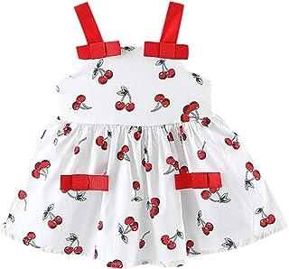 Tasche Set Kleinkind Kinder Baby M/ädchen Sommerkleid /Ärmellos Niedliche Kleid Umh/ängetasche ☺HWTOP Wassermelone Kleider