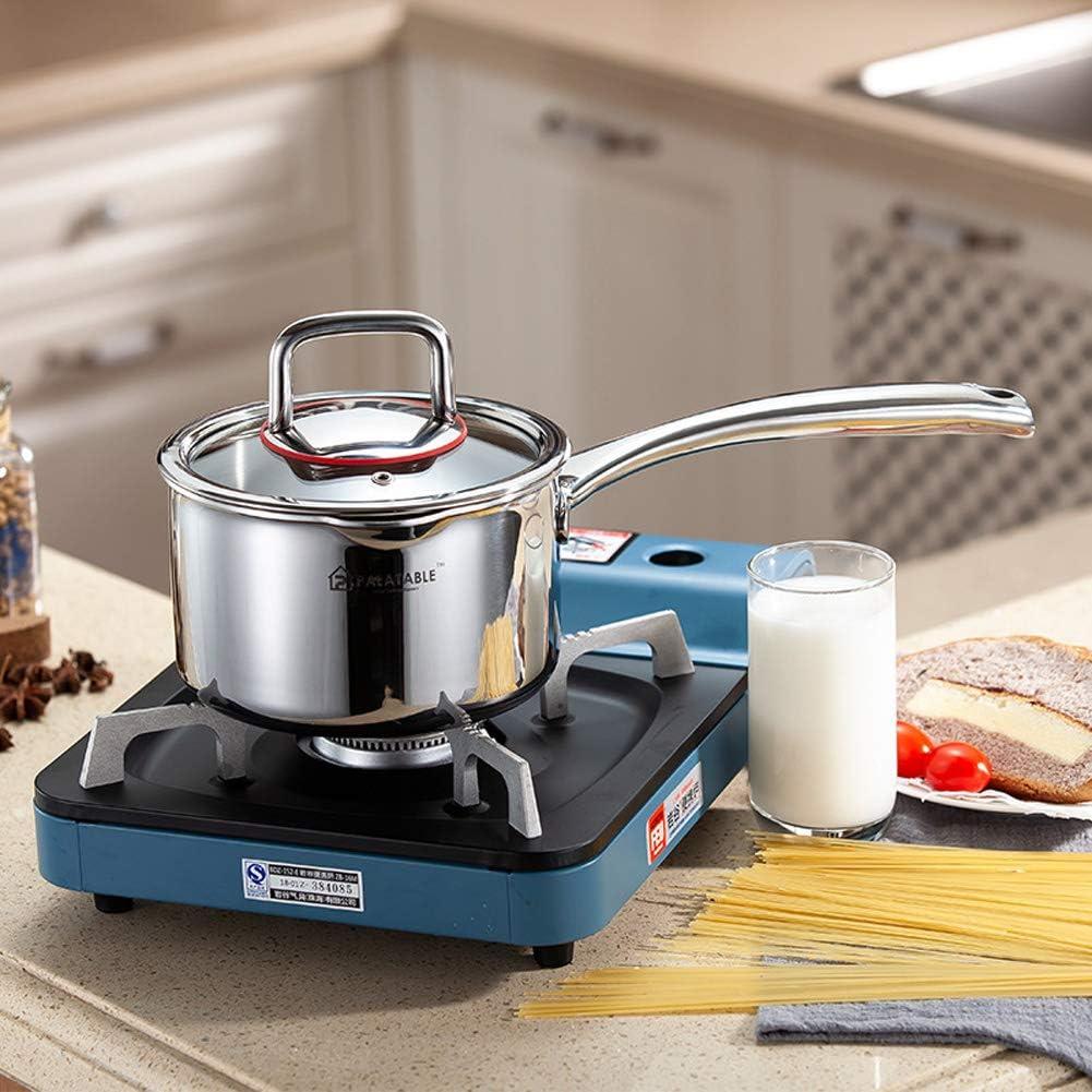 Pot à lait en acier inoxydable 304 avec poignée unique épaissie, versez le lait de la casserole pour la cuisson des pâtes, de la soupe, de la bouillie b C