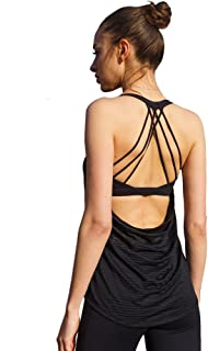 Yoga Tank Top for Womens Activewear Workout Tank Tops with Built in Bra