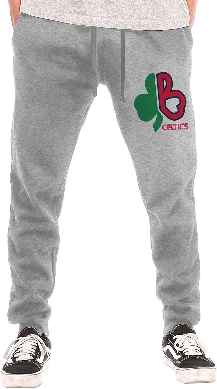 BarWords Men's Casual Sweatpants BostonCeltics Jogger Pants Gym Workout Running Sportswear Trousers