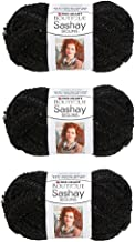 Red Heart Boutique Sashay Sequins Yarn - Caviar, 3-Pack