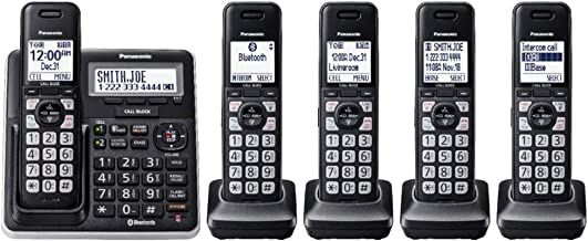 Panasonic 5 Handsets Link2Cell DECT 6.0 Talking Caller ID Voice Assist Expandable Cordless Phone with Digital Answering Sy... photo
