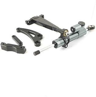 WildBee Kit Staffe di Montaggio Stabilizzatore Ammortizzatore di Sterzo Compatibile con ZX6R 2007-2008 Argento
