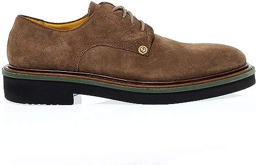 Cesare Paciotti Hombre PAC503081 marrón Gamuza zapatos De Cordones