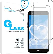 KATIN LG K20 Plus Screen Protector - [2-Pack] Tempered Glass for LG K20 Plus/LG K20 V Easy to Install with Lifetime Replacement Warranty