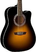 Washburn WA90CE Dreadnought Acoustic Electric Guitar Vintage Tobacco Sunburst