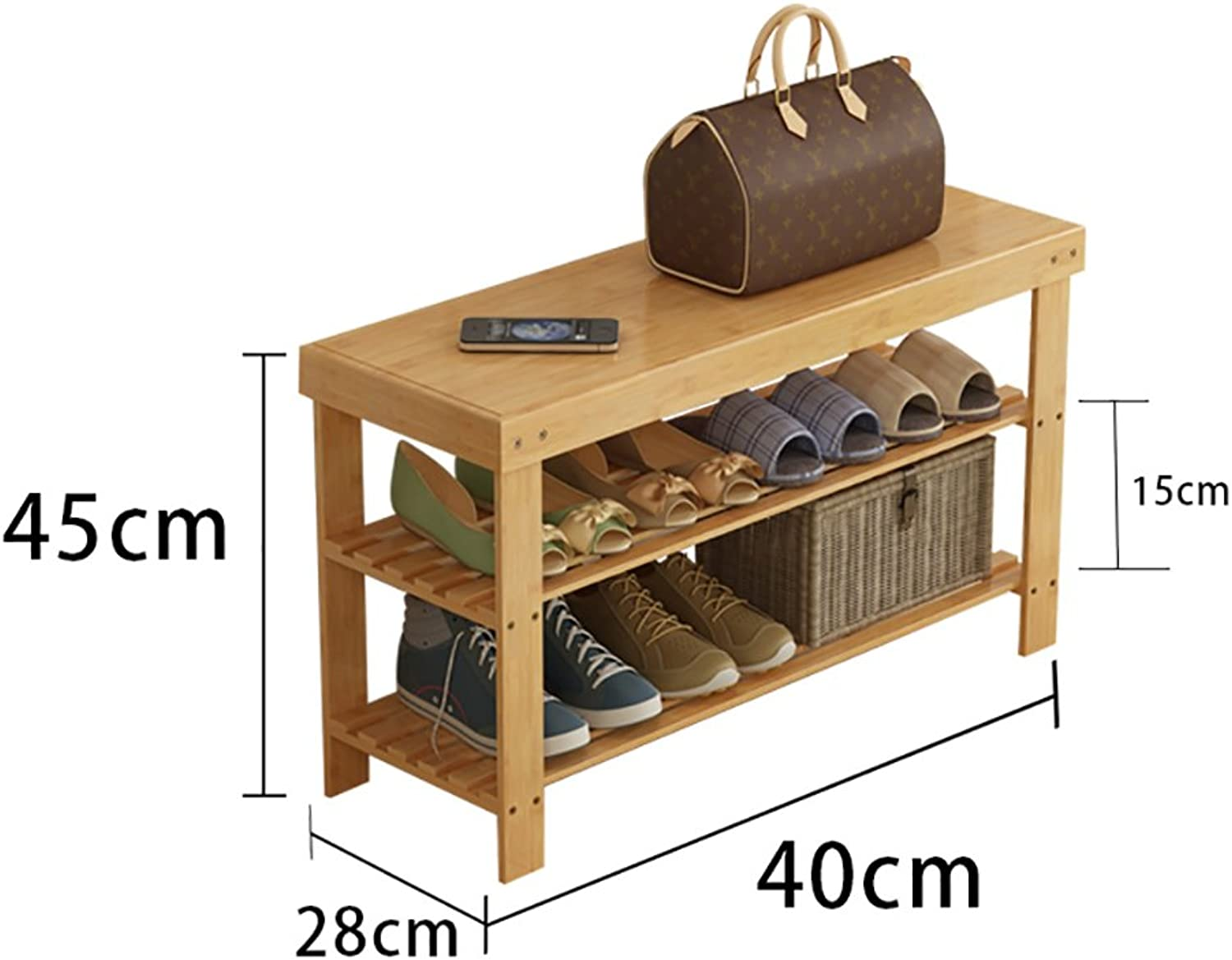 shoes Bench Organizing Rack Simple shoes Shelf Multilayer Dustproof Solid Wood Bamboo Storage Economy Home Dormitory Dormitory Assembly Living Room shoes Cabinet