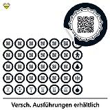cute-head 24 Adventskalender-Zahlen + 11 Motive (Aufkleber Etiketten Sticker) | Originell als QR...