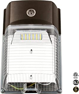 LED Wall Pack Light 26W 3000lm(Photocell Included),120-277V 5000K Daylight cETLus-Listed Dusk to Dawn 150-250W MH/Hps Replacement, Outdoor/Entrance Security Light (5-Year Warranty)(5000K) 26W 1PK